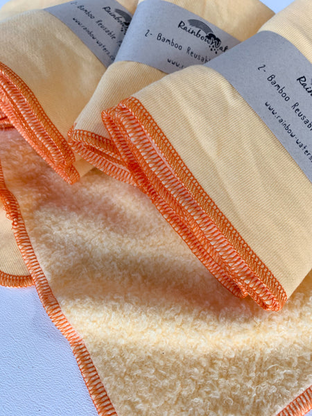 Creamsicle 2-pk Reusable Paper Towels, absorbent organic bamboo