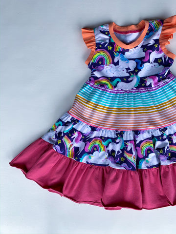 Size 3t Unicorn Sundae Crazy Play Dress