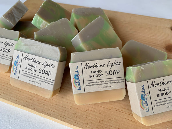 Northern Lights, Handcrafted Wool & Body Soap Bar