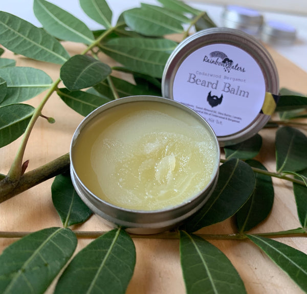 Beard Balm, 1/2oz tin or 2oz jar, infused with lanolin