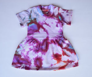 Size 18m, Phoenix Rising, LWI Tie Dyed, play dress, short sleeves