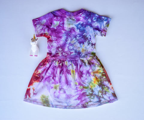 Size 3t, Phoenix Rising, LWI Tie Dyed, play dress, short sleeves