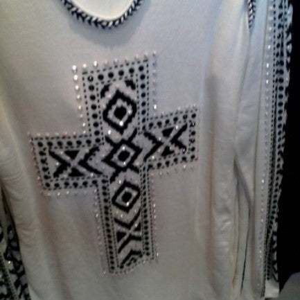 Vocal White/Black Hoodie Sweater #13133HL