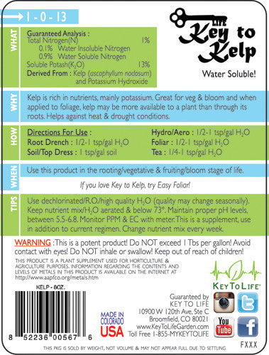 Key to Kelp - Back Label