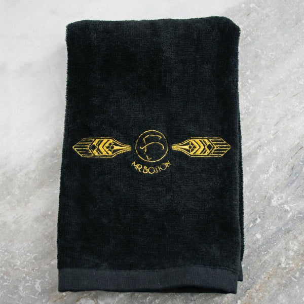 black bar towel, bar mop towel