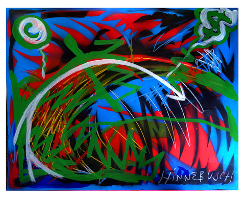 cs 22 x 28 inches acrylic and stencil on paper