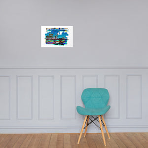 Ocean Airports - David Hinnebusch Comix - Photo paper poster