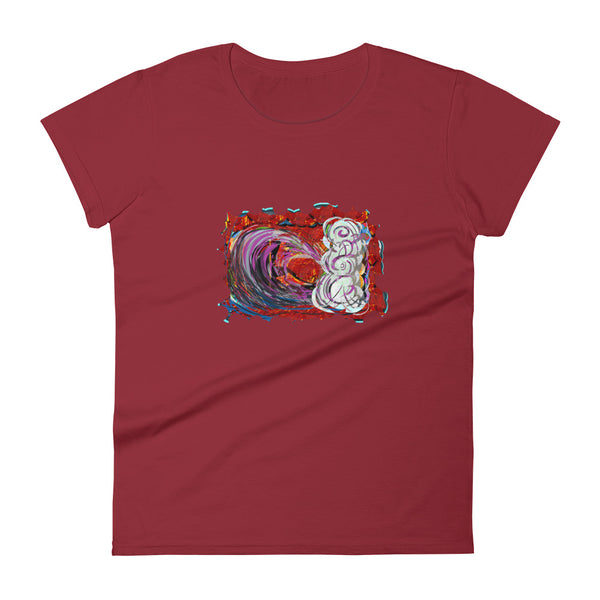 Red Wave - David Hinnebusch Comix - Women's short sleeve t-shirt