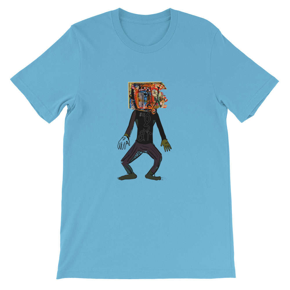 Robot with a C-10 Grill 2 - David Hinnebusch Comix - Short-Sleeve Unisex T-Shirt