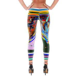 Summer of 1970 Leggings - Hinneline - David Hinnebusch Artwork & Designs