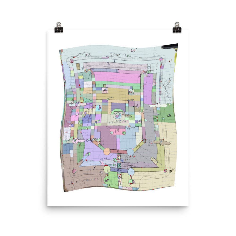Paisley Dungeon Map Flag - David Hinnebusch Comix -  Photo paper poster