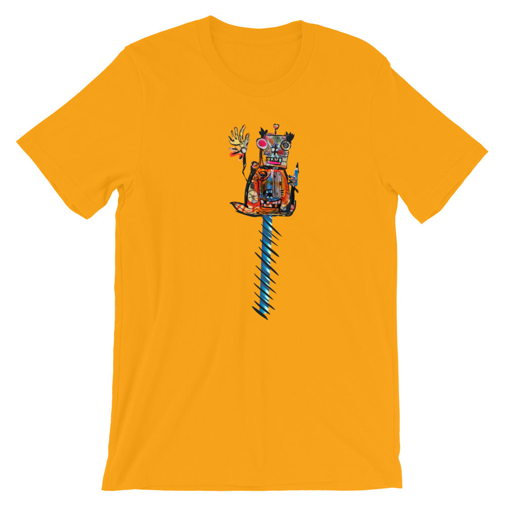 Robot with a C-10 Grill 6 - David Hinnebusch Comix - Short-Sleeve Unisex T-Shirt