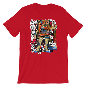 Robot with a C-10 Grill 1 - David Hinnebusch Comix - Short-Sleeve Unisex T-Shirt
