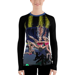 Bikini Atoll in C Sharp - David Hinnebusch Comix - Women's Rash Guard