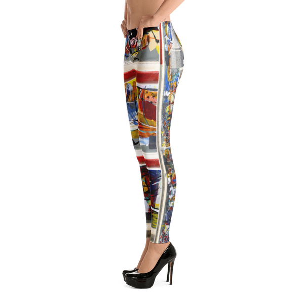 The Pacific and Brooks Mural Leggings - Hinneline - David Hinnebusch Designs