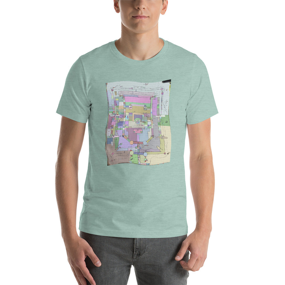 Paisley Map Flag - David Hinnebusch Comix - Short-Sleeve Unisex T-Shirt