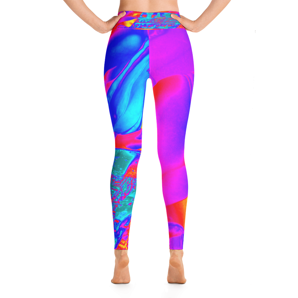 Hot Heat Wave Yoga Leggings - Hinneline - David Hinnebusch Designs
