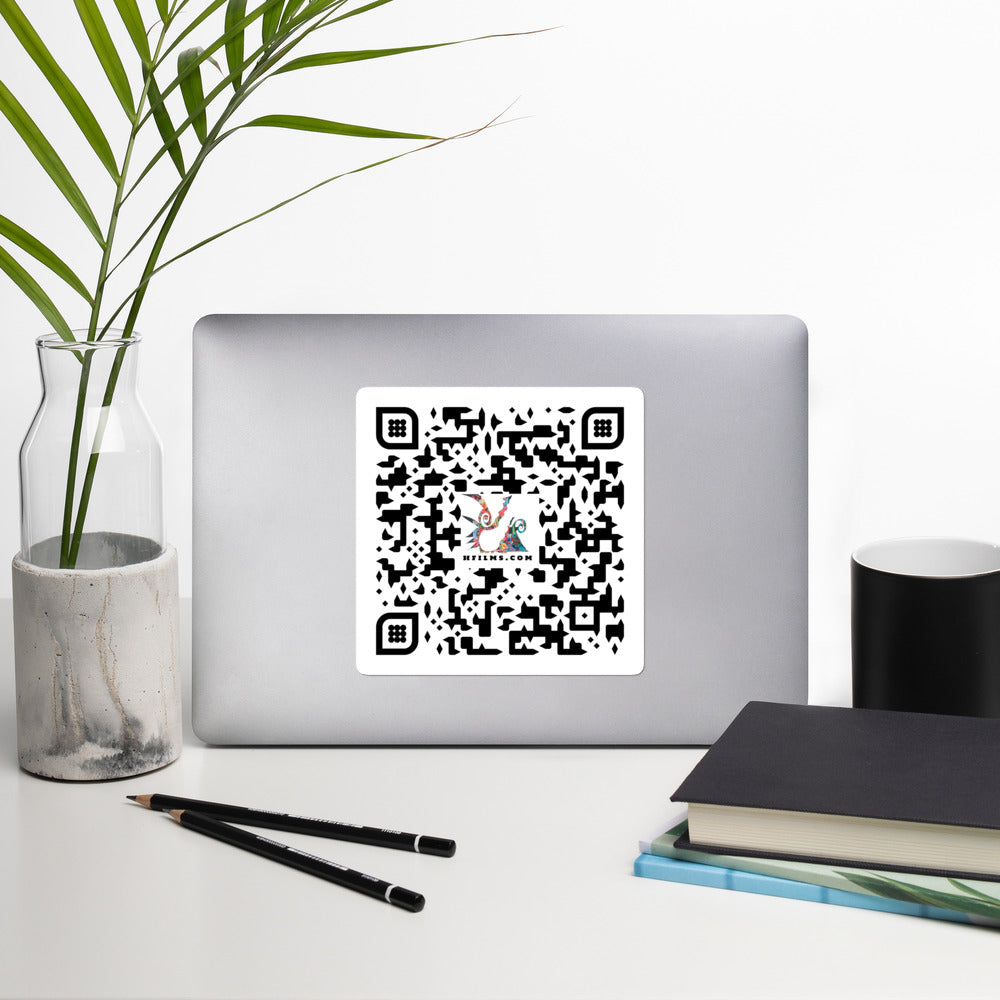 David Hinnebusch Comix - QR -Bubble- stickers