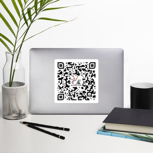 David Hinnebusch Comix - QR -Bubble-free stickers