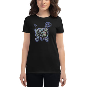 Blue Spin Dragon - Women's short sleeve t-shirt
