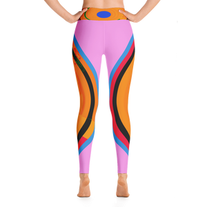 Lines Around Yoga Leggings - Hinneline - David hInnebusch Designs