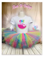 One In A Melon, 1st Birthday Outfit, Tutu & Shirt