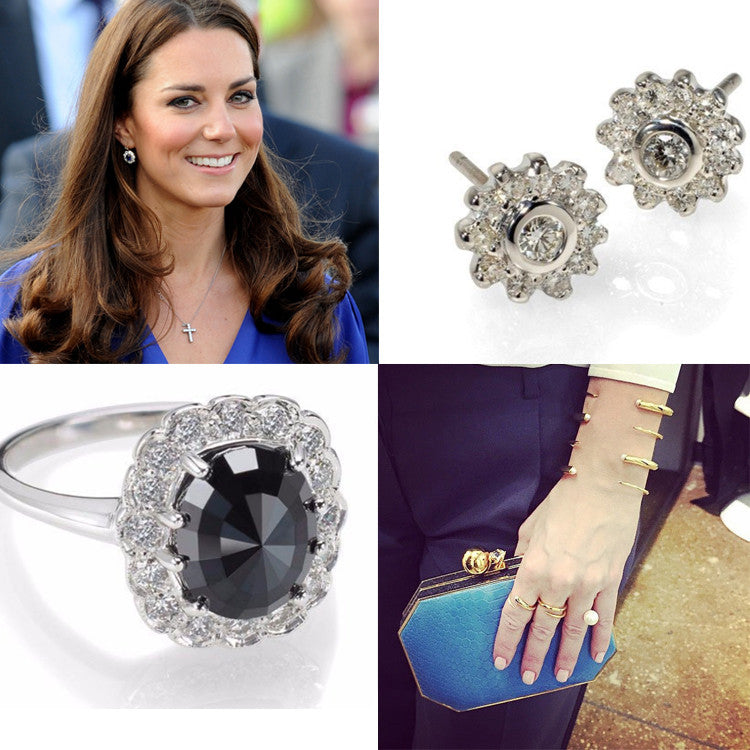 Diamond rings, cocktail ring, diamond stud earrings, pearl bracelet, pearls, mothers day gifts, kate middleton