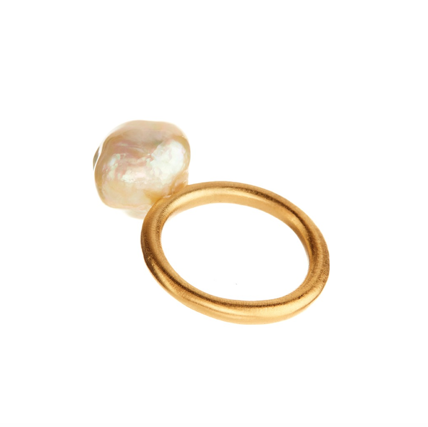 18K Yellow Gold South Sea Pearl Ring