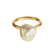 18K Yellow Gold South Sea Pearl Ring - Rings