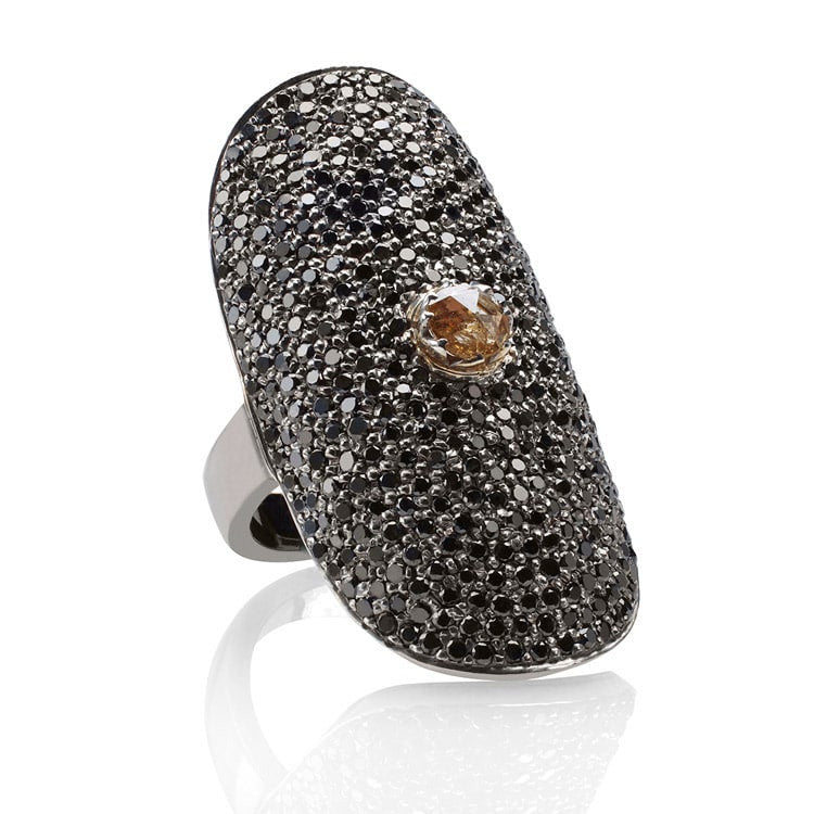 Pavé Black Diamonds Finger Ring - Fine Jewelry