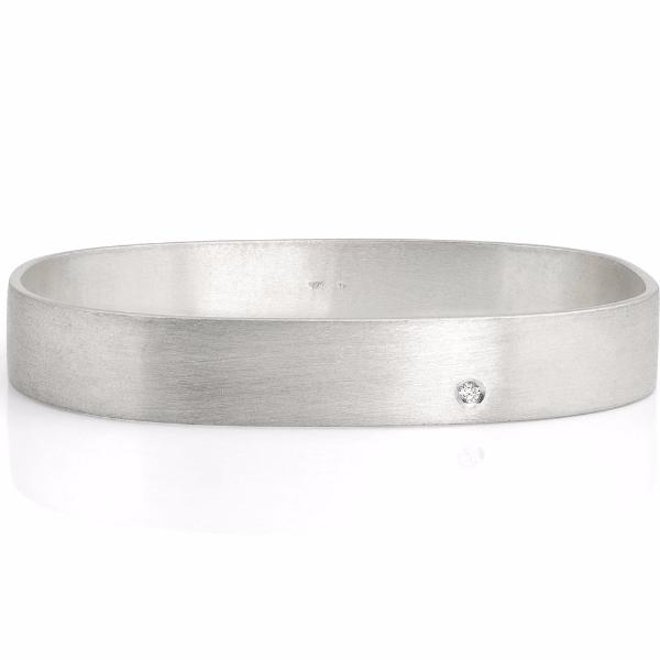 Sterling Silver and Diamond Sanem Bangle - Bracelets