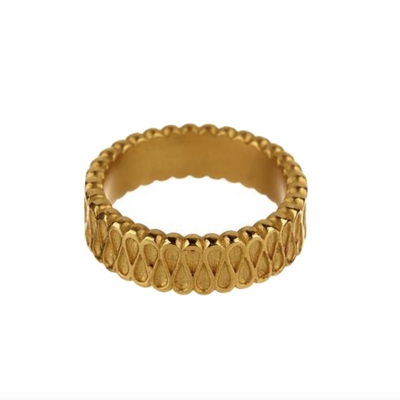 18K Yellow Gold Narrow Collar Ring - Jewelry