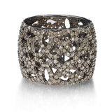 Sterling Silver Champagne Diamond Band Ring - Fine Jewelry