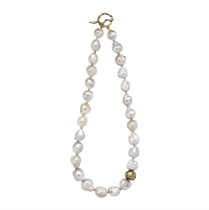 Cloud Pearl Bronze Necklace - Necklaces