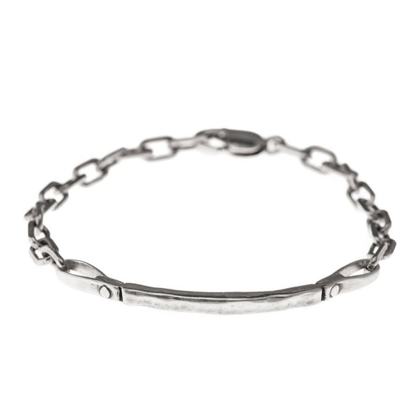 Sterling Silver Curved Bar Bracelet - Bracelets