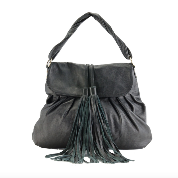 Leather Algea Satchel/Shoulder Bag - Shoulder Bags