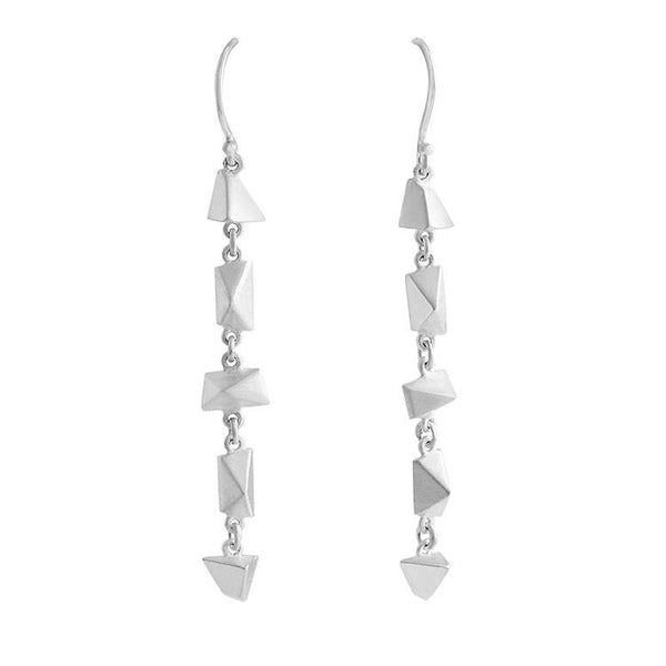 Sterling Silver 5 Pi Drop Earrings - Earrings