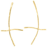 18K Gold Branch Earrings