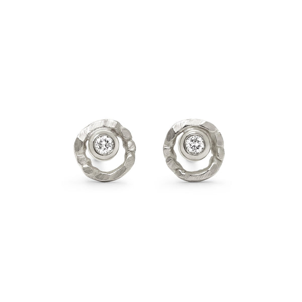 Mini Open Silhouette Stud Earrings - Earrings