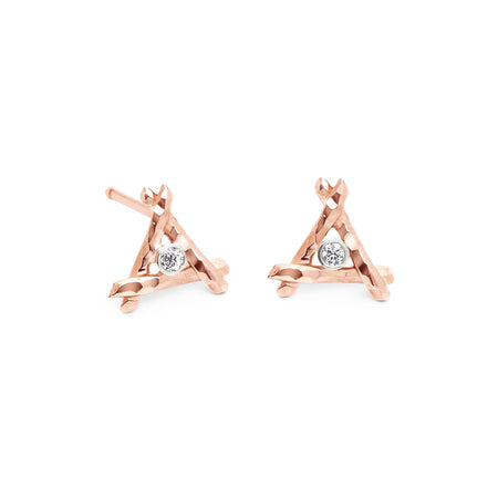 Zuha Earrings, Pink
