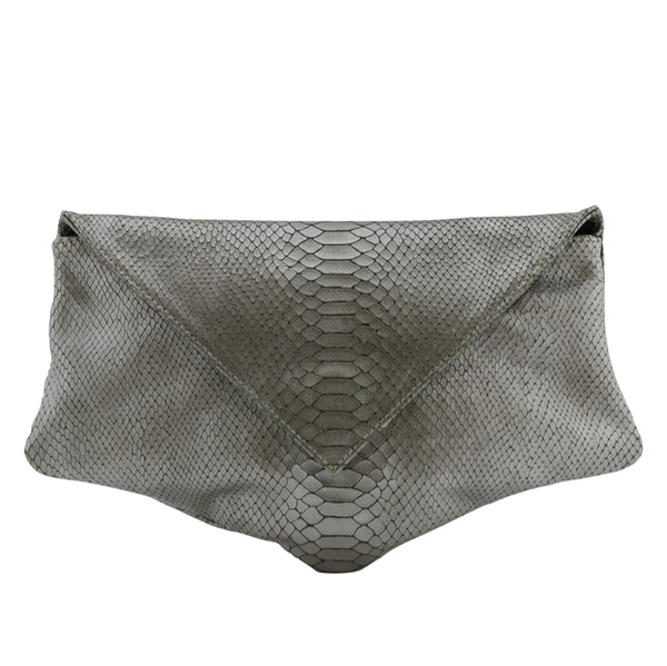 Embossed Leather Kore Clutch Bag - Clutches