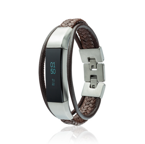 Fitbit Alta Bracelet Aurel 2 - Leather and Stainless Steel