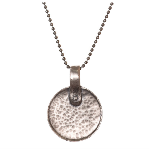Sterling Silver Hammered Disc