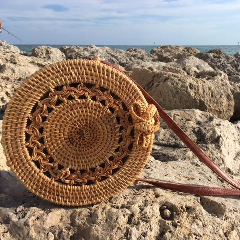 Handwoven Calypso Straw Bag Braided - Shoulder Bags