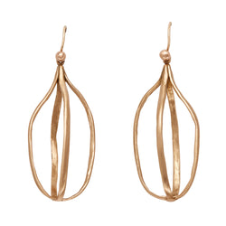 Birdcage Bronze Earring - Earrings