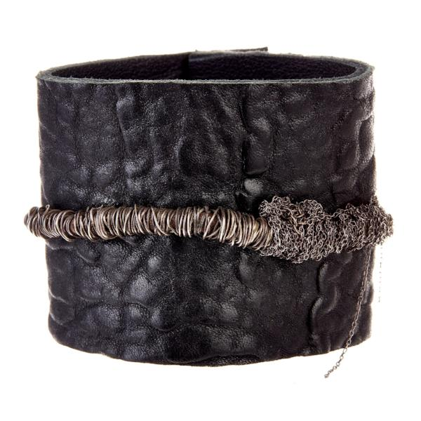 Chic Leather Cuff - Bracelets