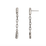 Sterling Silver Line Drop Earrings