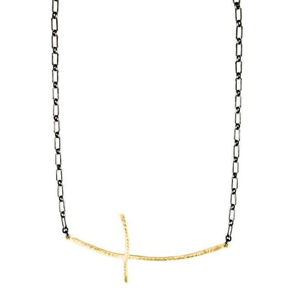 18K Yellow Gold Long Branch Necklace - Necklaces