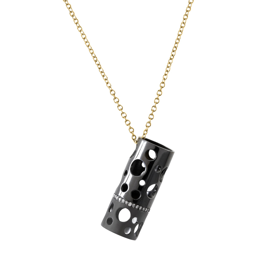Oversized Two-Finish Holly Pendant - Fine Jewelry