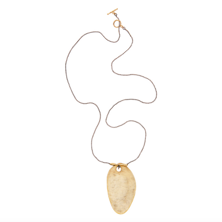 14K Gold and Quartz Renata Pendant